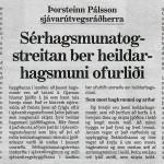 Sérhagsmunatogstreitan ber heildarhagsmuni ofurliði