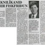 Reiknilíkanið fyrir fiskfriðun