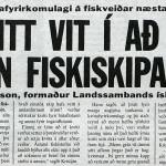 """""""Ekki neitt vit í að gera út allan fiskiskipaflotann"""""""