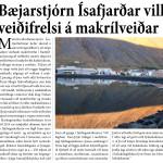 Bæjarstjórn Ísafjarðar vill veiðifrelsi á makrílveiðar